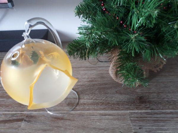Christmas Glass Candle Holder - Yellow - 20200923 091249