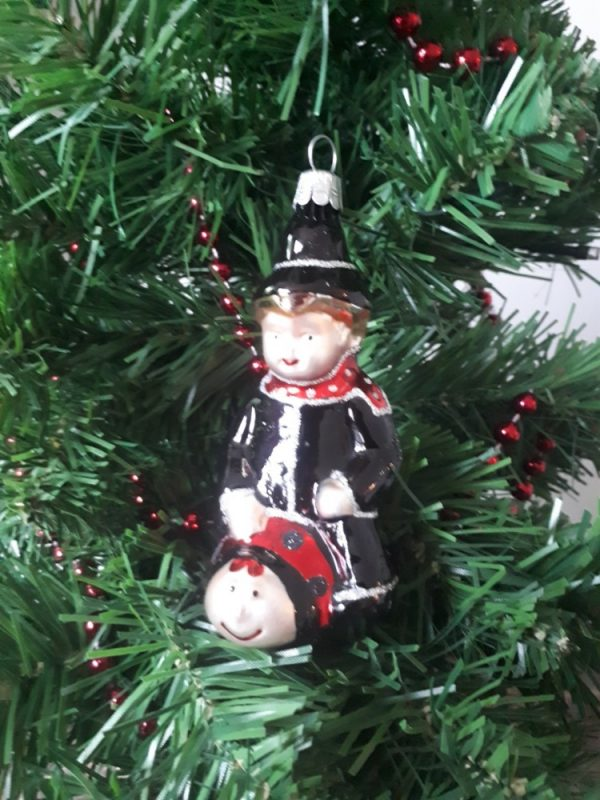 Chimney Sweeper Christmas Glass Decoration