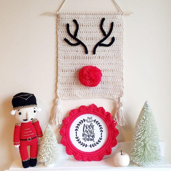 Crochet Christmas Frame Decoration - 20201107 202428