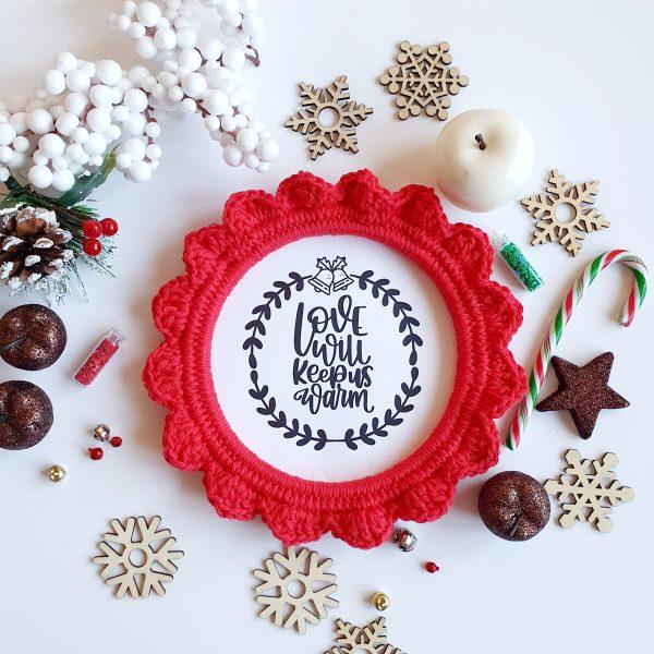 Crochet Christmas Frame Decoration - 20201108 180903