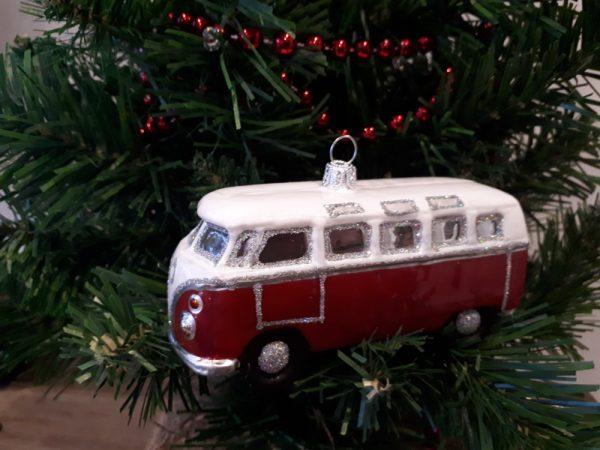 Glass Volkswagen Bus - handmade Christmas tree decoration - 20201115 150226