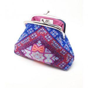Blue & Pink Clutch Bag