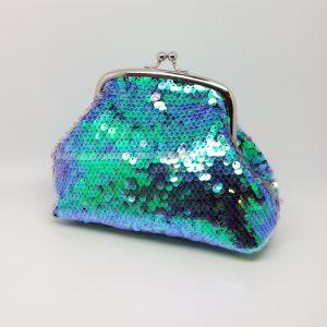 Green Sequin Clutch Bag