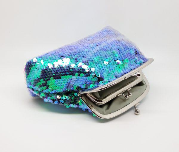 Green Sequin Clutch Bag - 20201127 182355