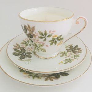 Teacup Candle - Leaf Royal Tara Fine Bone China