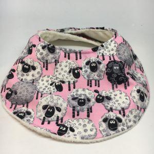 Baby Bib Sheep Pink