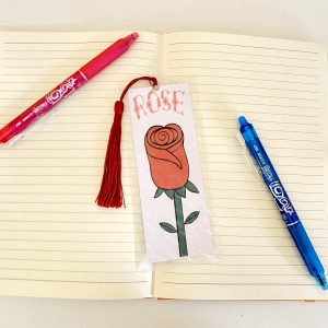 Rose Bookmark with Personalisation