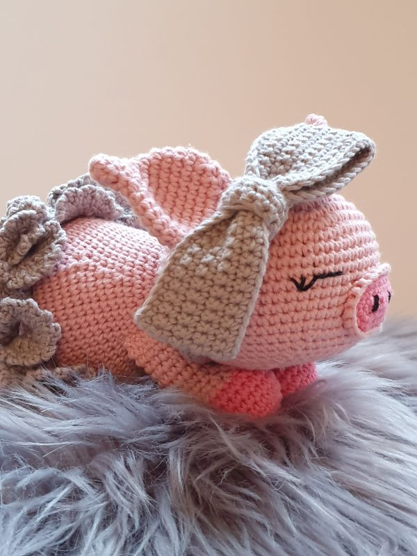 Crochet Pig Daisy-Mae - 9 4 rotated