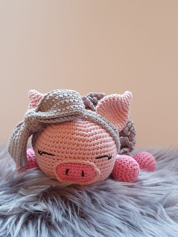 Crochet Pig Daisy-Mae - 9 5 rotated