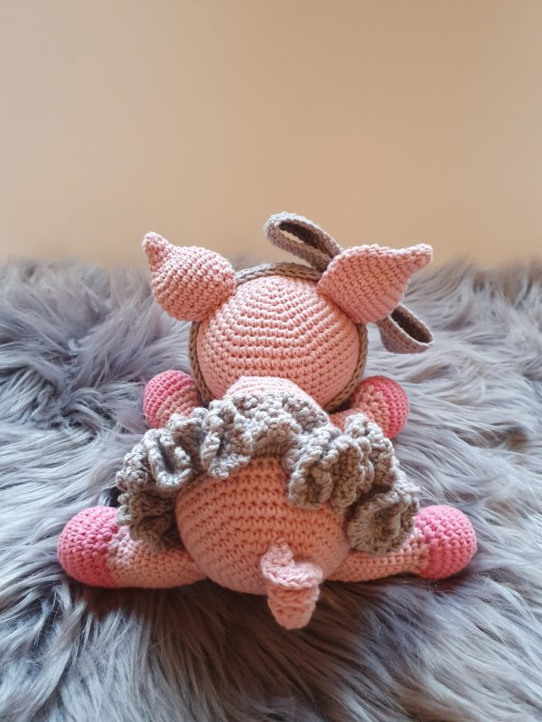 Crochet Pig Daisy-Mae - 9 6 rotated