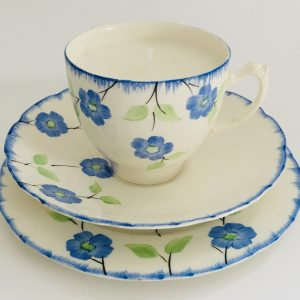 Teacup Candle - Blue Flower Fine China