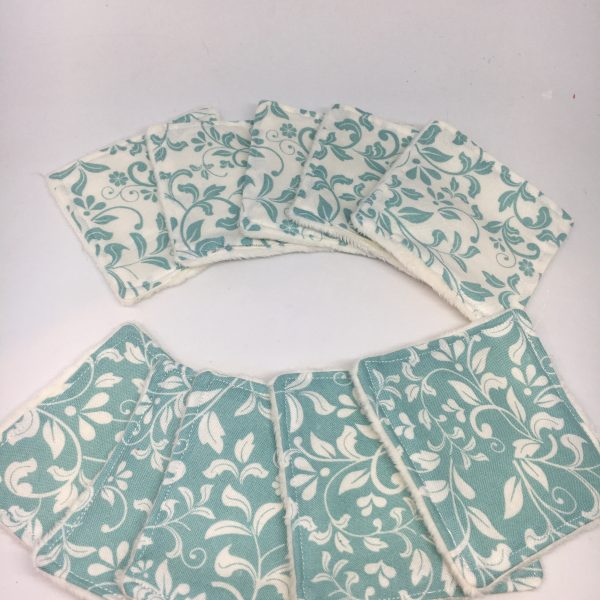 Reusable Wipes Floral (Teal)