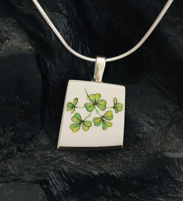 Vintage China Necklace - Arklow Shamrock - CDD6C165 E409 4A93 B215 BE33ADA3802B