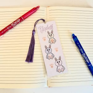 Personalised Bunny Rabbit Bookmark
