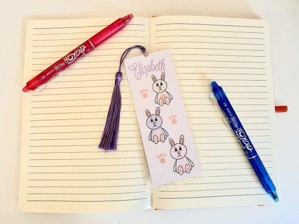 Personalised Bunny Rabbit Bookmark