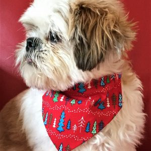 Dog Bandana Christmas Trees by Woof Stuff Dublin Ireland