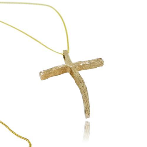 Driftwood Cross - Yellow Gold Plated - Driftwood cross GP 2