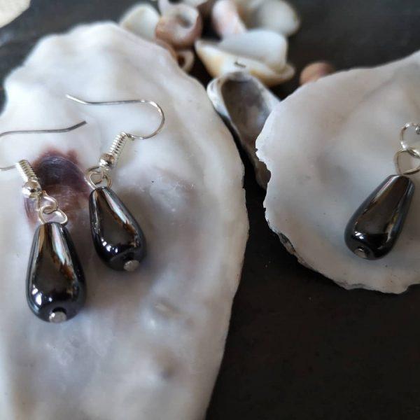 Gemstone Pendant & Earrings - Heametite
