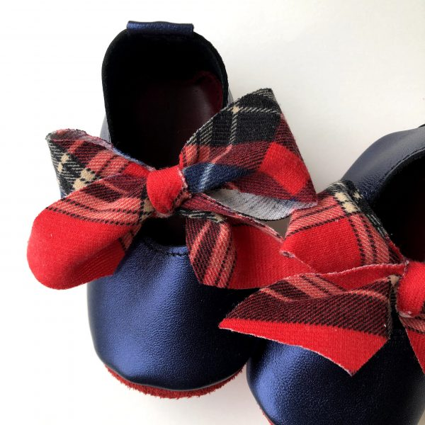 Leather Baby Ballerina Shoes with Bows - IMG 0292 scaled