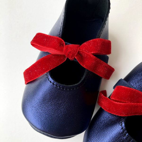 Leather Baby Ballerina Shoes with Bows - IMG 0294 scaled
