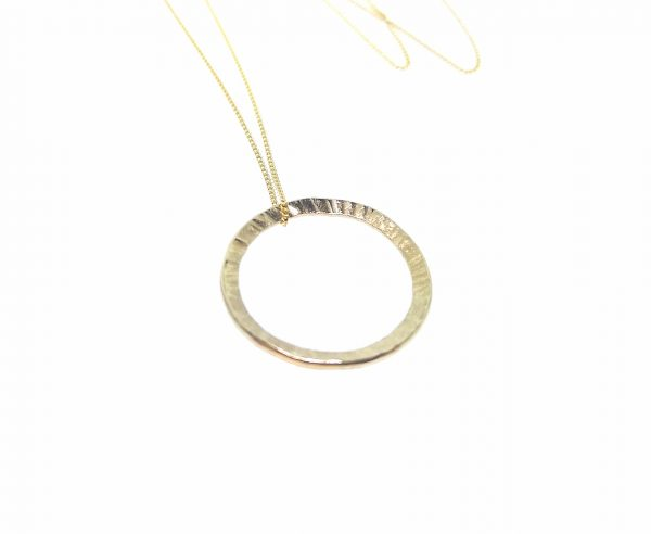 Full Circle Pendant - Yellow Gold Plated