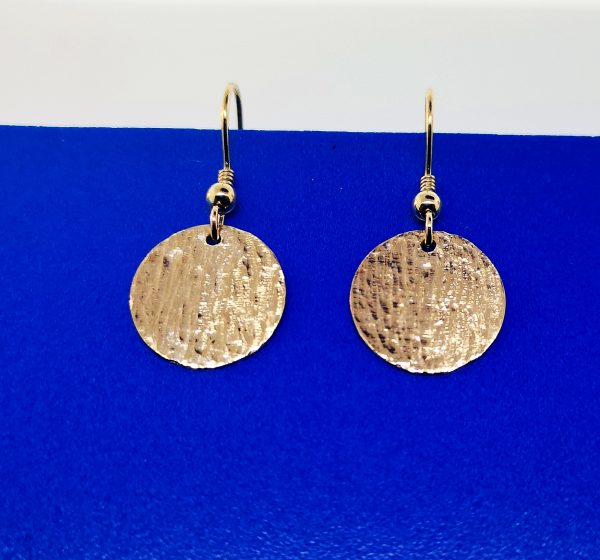Ripple Disc Earrings - Yellow Gold Plated - IMG 20200421 125245