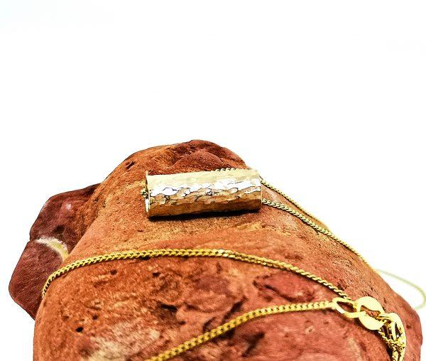 Driftwood Log Pendant - Yellow Gold Plated - IMG 20200429 102744
