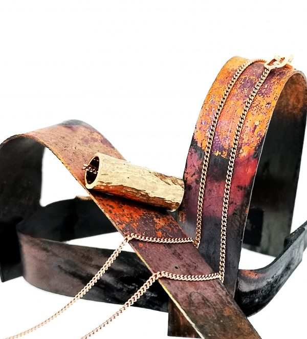 Driftwood Log Pendant - Rose Gold Plated - IMG 20200429 103954