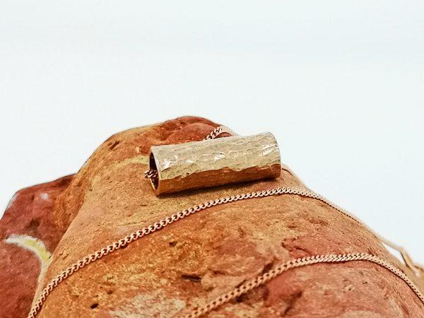 Driftwood Log Pendant - Rose Gold Plated - IMG 20200429 104256