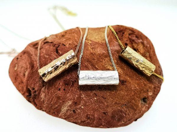 Driftwood Log Pendant - Sterling Silver - IMG 20200429 113304