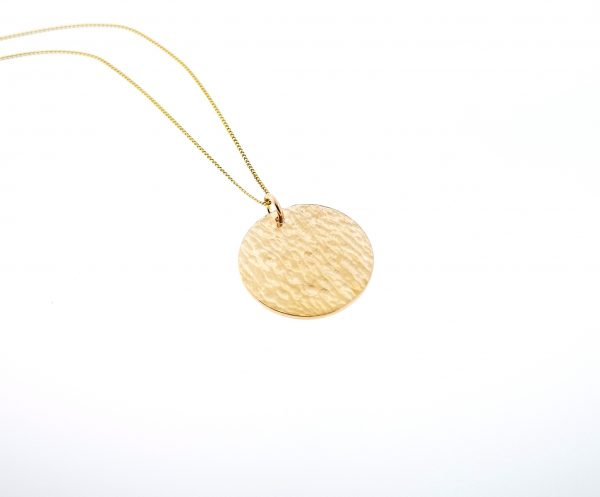 Ripple Disc Pendant - Yellow Gold Plated - IMG 20200429 115408