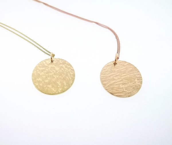 Ripple Disc Pendant - Yellow Gold Plated - IMG 20200429 120541