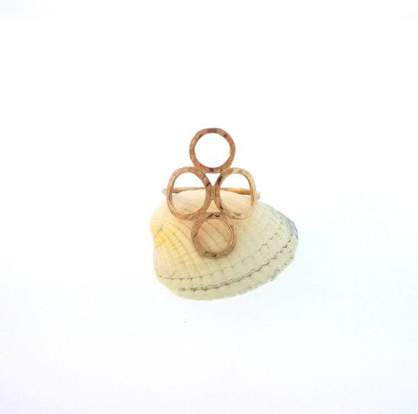 4 Circle Ring - Rose Gold Plated