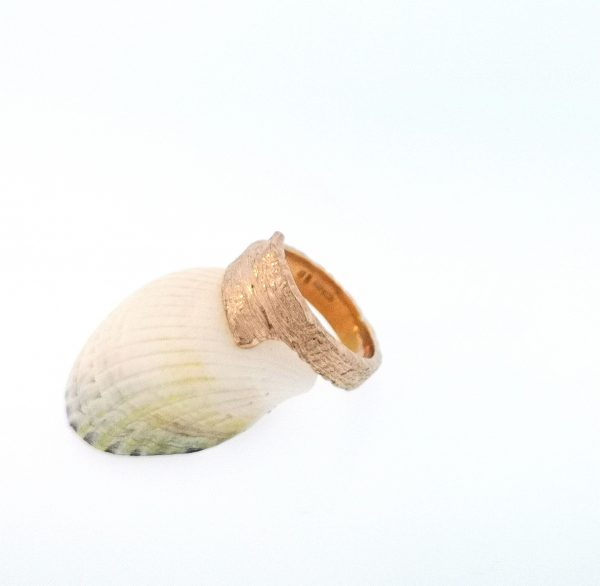 Driftwood Wrap Over Ring - Rose Gold Plated - IMG 20200429 122910