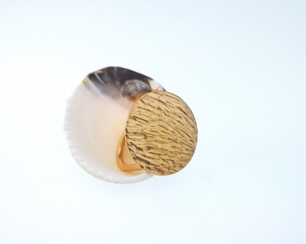 Ripple Disc Ring - Rose Gold Plated