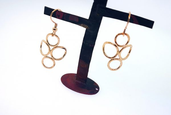 4 Circle Earrings - Rose Gold Plated - IMG 20200429 150103