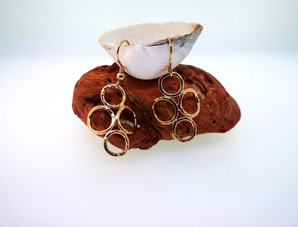 4 Circle Earrings - Rose Gold Plated - IMG 20200429 150157