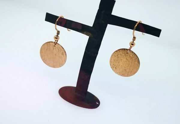 Ripple Disc Earrings - Rose Gold Plated - IMG 20200429 151522