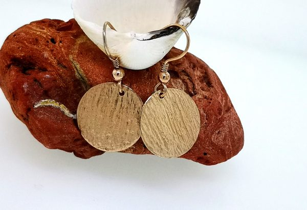 Ripple Disc Earrings - Rose Gold Plated - IMG 20200429 151713