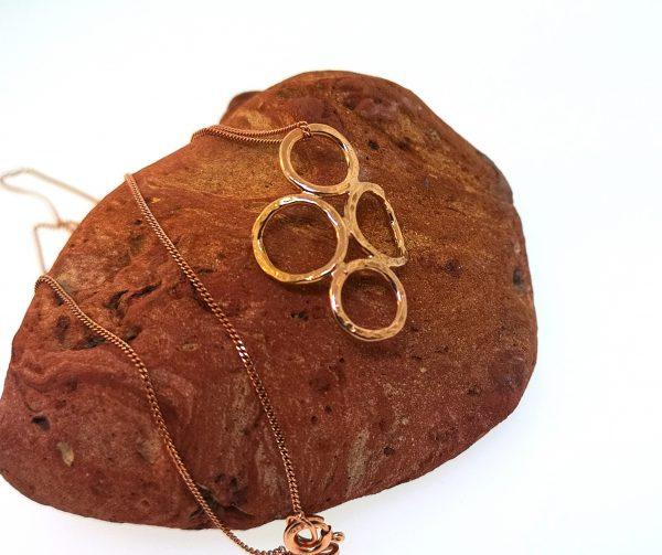 4 Circle Pendant - Rose Gold Plated - IMG 20200429 160830