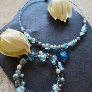 Sea Breeze Necklace & Wrap Bracelet