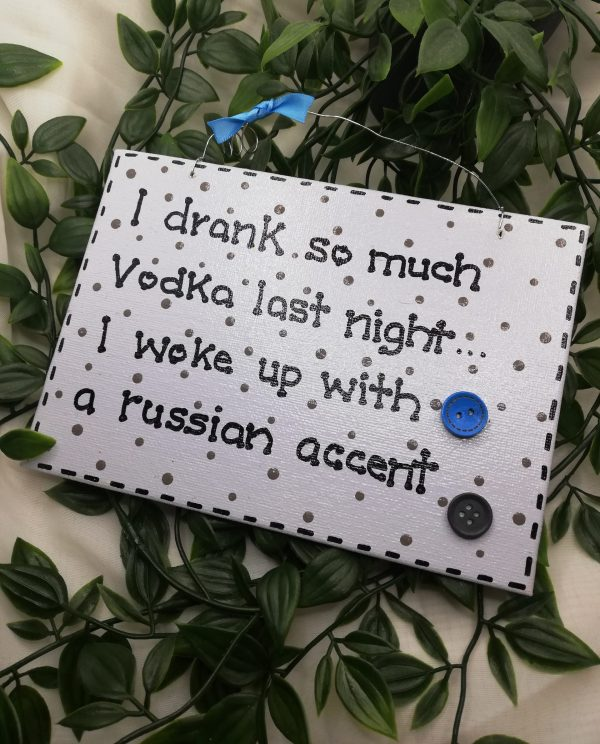 Funny Wall Sign - Vodka