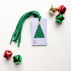 Christmas Tree Gift Tag Set