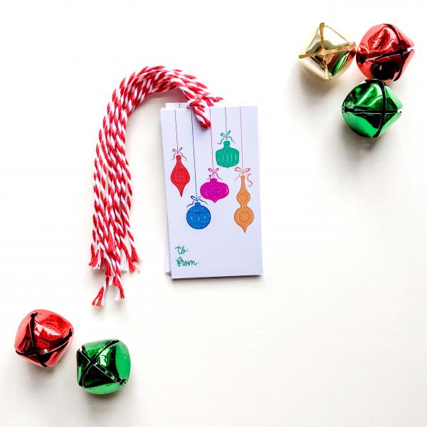 Christmas Ornament Gift Tag Set