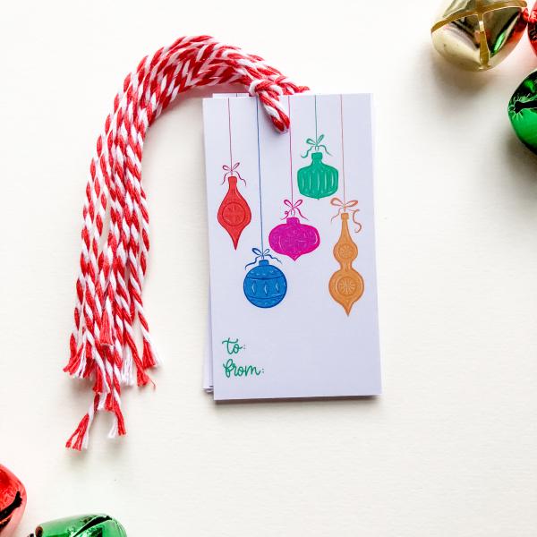 Christmas Ornament Gift Tag Set - IMG 2119