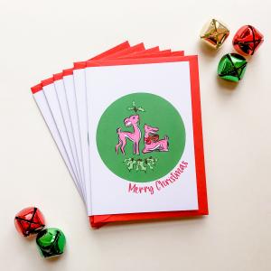 Merry Christmas Deer Card Set Of 6
