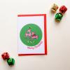 Illustrated Deer Merry Christmas Card