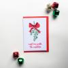 Meet Me Under The Mistletoe Christmas Card