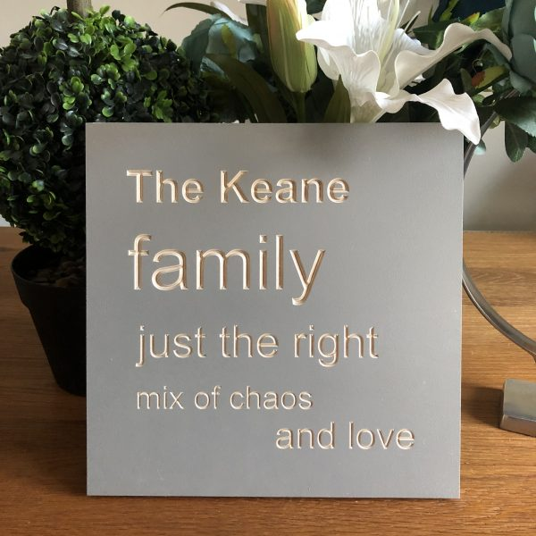 Forget me knots by As Cute as a button frames family plaque