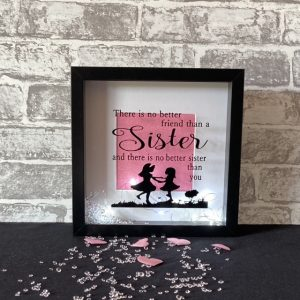 Sisters Playing Framed Art